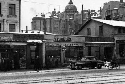Kaivopiha 50-luvulla ennen Kaivotaloa ja muita rakennuksia